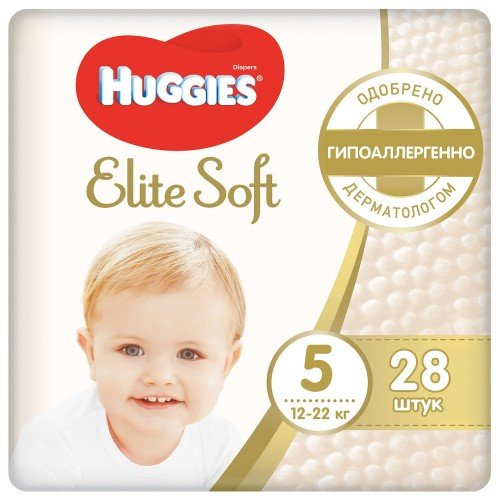 Huggies Elite Soft 5 (12-22 кг) 28 шт