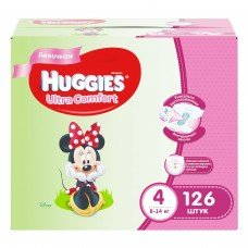 Huggies Ultra Comfort Disney Box Girl 4 (8-14кг) 126шт