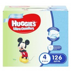 Huggies Ultra Comfort Disney Box Boy 4 (8-14кг) 126шт