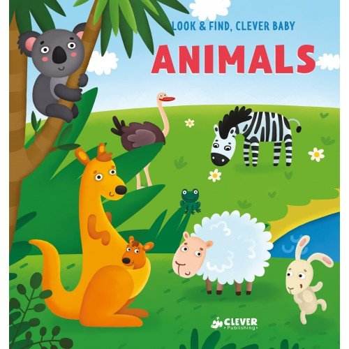 Clever English Books. Look and find, Clever baby: Animals