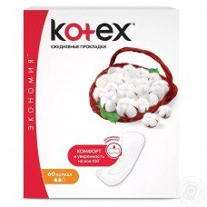 Kotex Normal Liners Ежедневки 60 шт